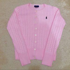 Ralph Lauren Cable Knit Sweater Cardigan